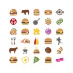 ikonky barevné hamburger
