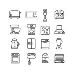 ikonky kuchyňské přístroje
