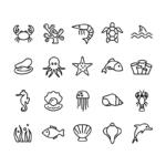 ikonky mořští živočichové