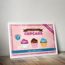 plakát retro cupcake