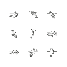 ikonky pohyby velryby