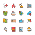ikonky pro hotel barevné