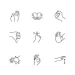 ikonky signály rukou pro potapěče