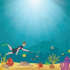 plakát pod mořem
